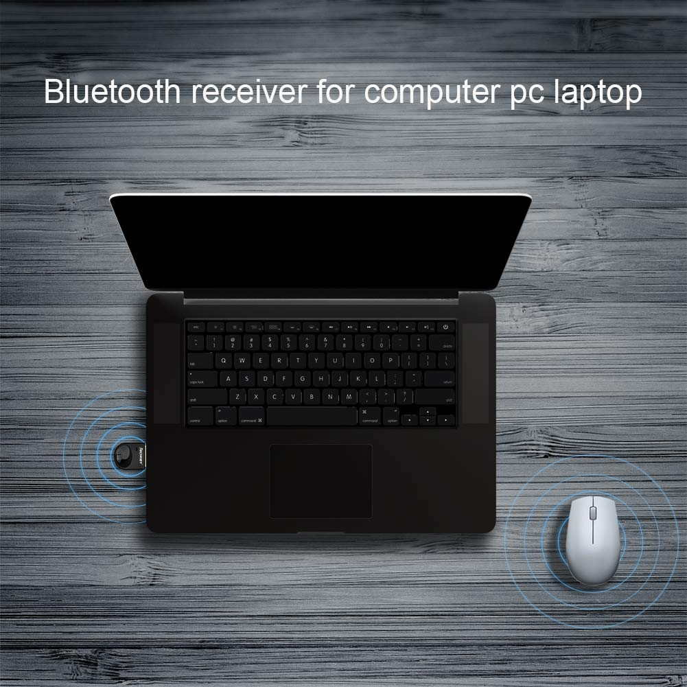 Keyboard Techkey USB Bluetooth Adapter Dongle for PC Laptop Computer Desktop Stereo Music Mouse Support All Windows 10 8.1 8 7 XP Vista Skype Call