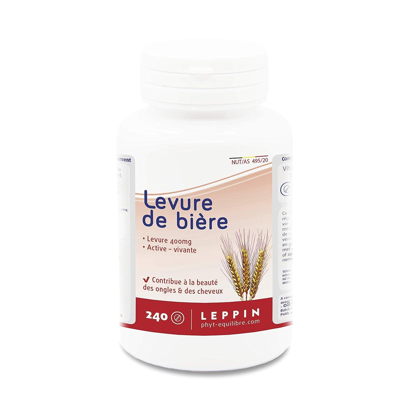 LEPPIN ☘️ Levadura de cerveza 240 comprimidos VEGAN | Levadura activa - viva - revivible | Piel sana y cabello sano | Complemento alimenticio 100% ...