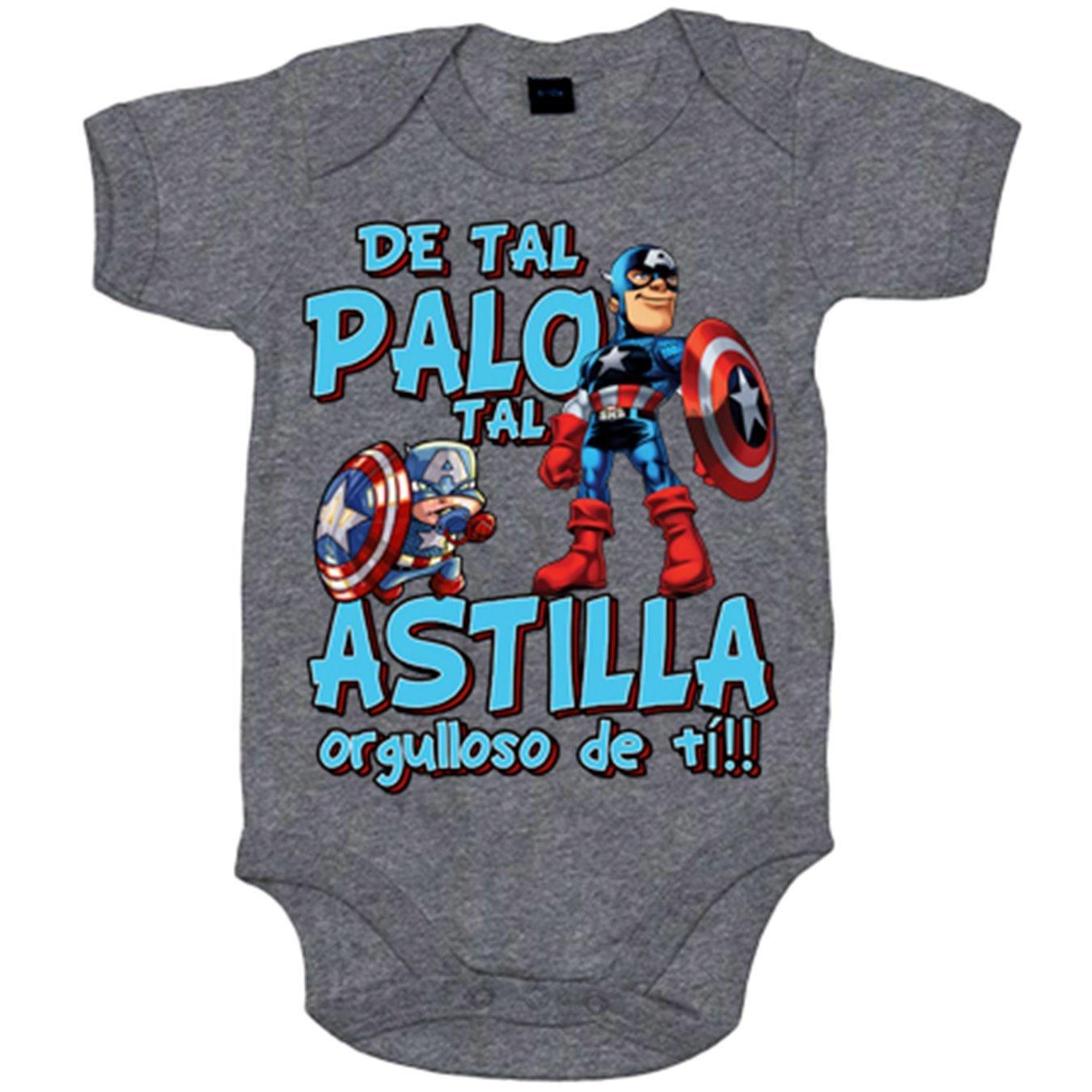 Body bebé Capitán América de tal palo tal astilla orgulloso de ti - Azul Royal, 6-12 meses: Amazon.es: Bebé