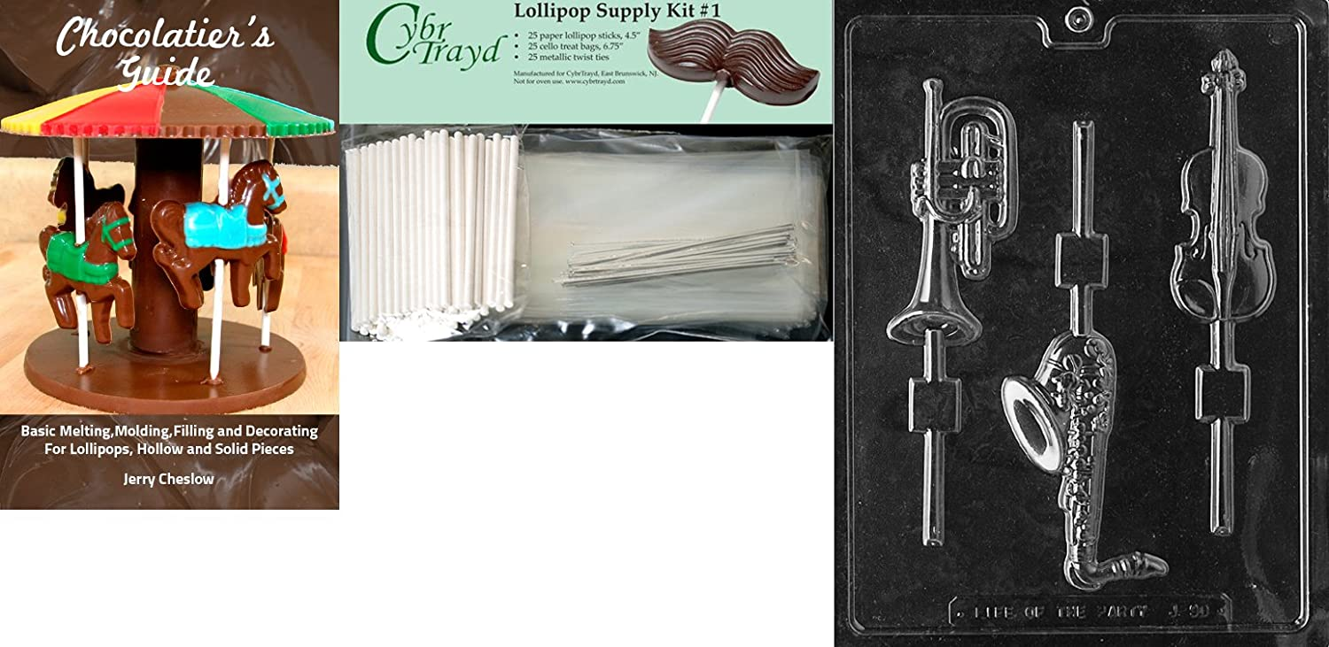 Cybrtrayd J090 Musical Instruments Lolly Jobs Chocolate Candy Mold