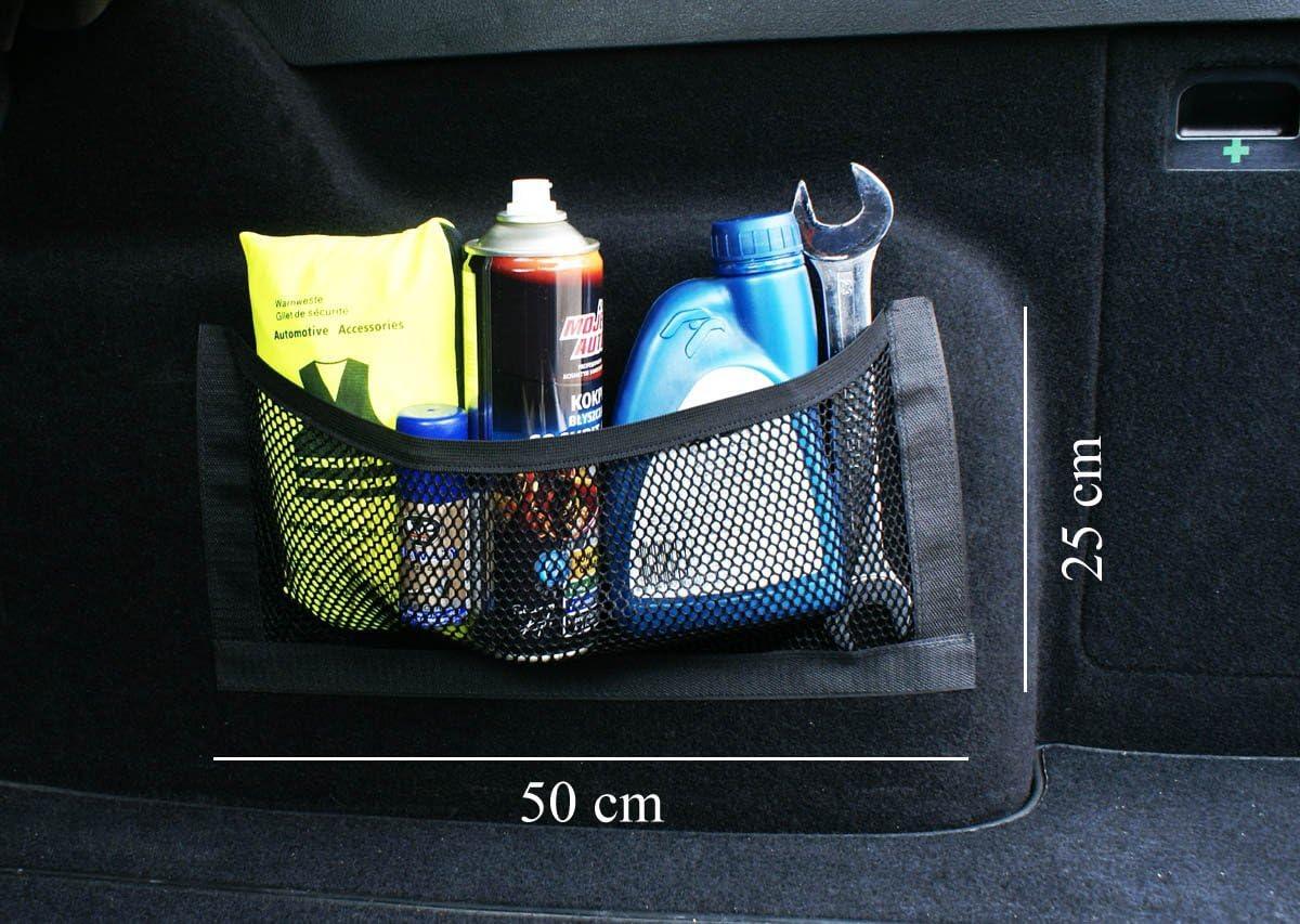 Ferocity Universale Netztasche Beutel Mit Klett Haftet An Kofferraum Organizer 50 X 25 Cm 031 1 Auto