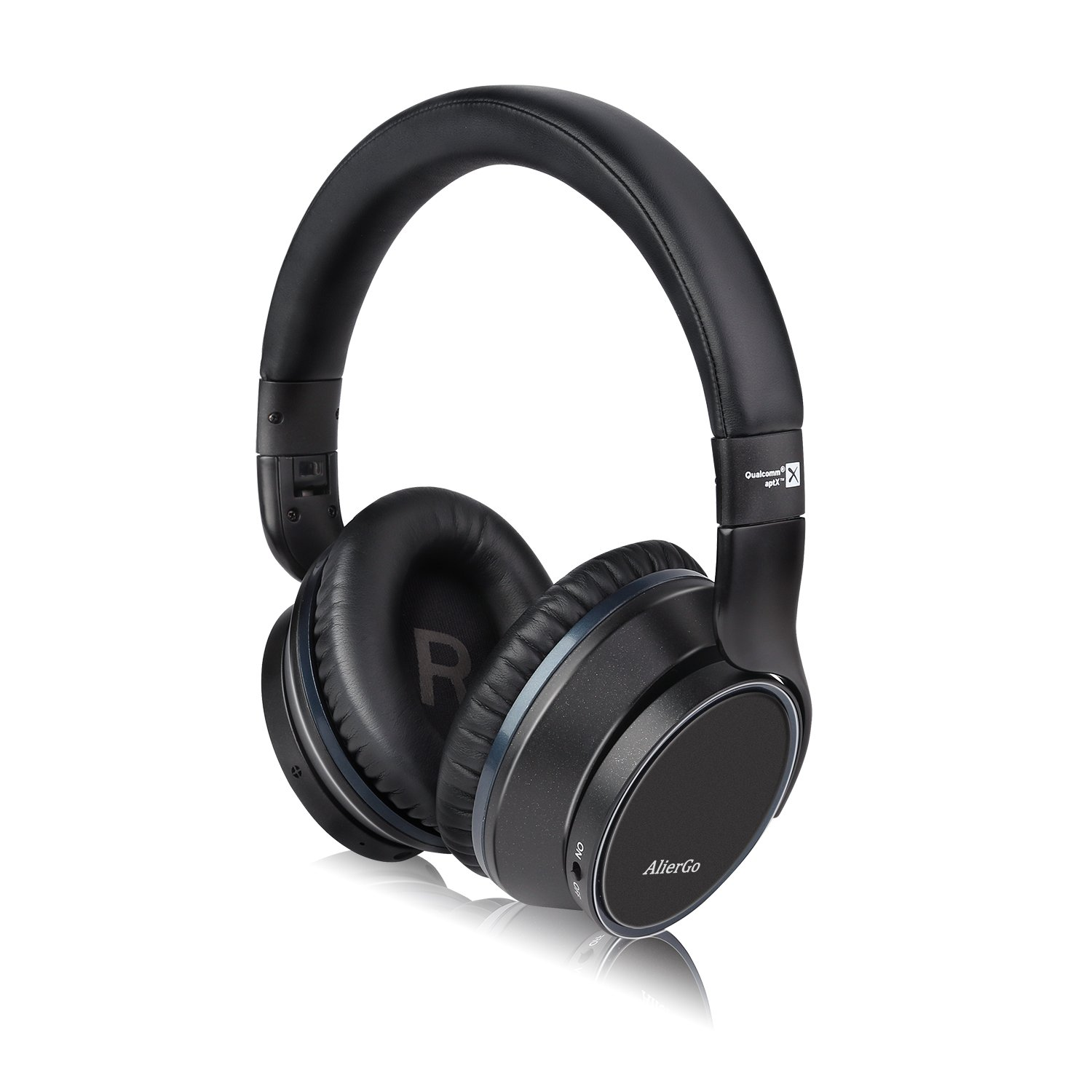 AlierGo SoundOn ANC Wireless Headphones,Active Noise Cancelling(ANC) Wireless Stereo Over Ear Headsets with aptX Hi-Fi Deep Bass Sound for Smartphones/TV/Laptop/Tablet(Dual 40mm Drivers,Built-in MICR