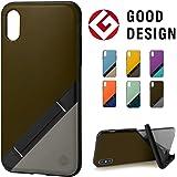 【campino】(Bi-Color)iPhone XS/X ケース OLE stand スタンド機能 耐衝撃 スリム 動画 6カラー有【国内正規代理店】CP-IA20-CBSD (Military Brown × Smoke Gray)