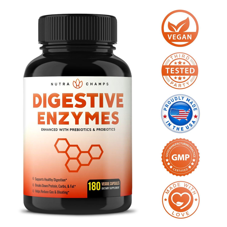 Amazon.com: Enzimas digestivas con Prebióticos y Probióticos ...