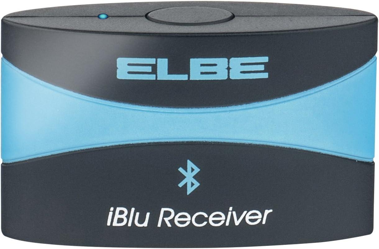 Elbe REC-21-IPBT - Receptor Bluetooth para Docking, música sin cables, color negro y azul