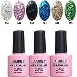 AIMEILI Soak Off UV LED Gel Nail Polish Multicolour/Mix Colour/Combo Colour Set Of 6pcs X 10ml - Kit Set 7