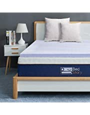 BedStory Memory Foam Mattress Topper Queen, 2 Inch Lavender Infused Memory Foam Topper with Microfiber Fitted Cover, Foam Mattress Pad with CertiPUR-US, Ventilated Design