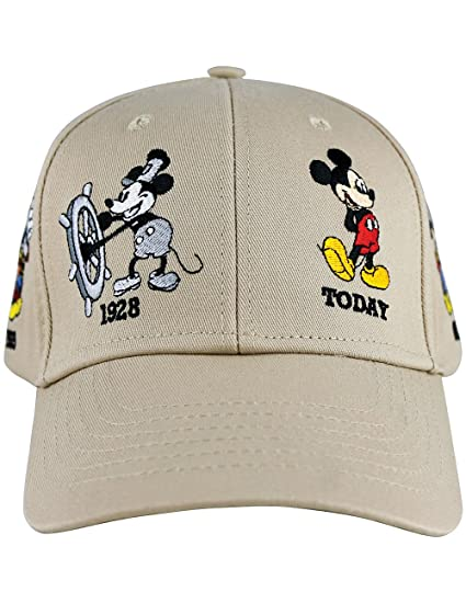 Image Unavailable. Image not available for. Color  Disney Mickey Mouse Adult  History Baseball Cap Khaki c2ffb433820