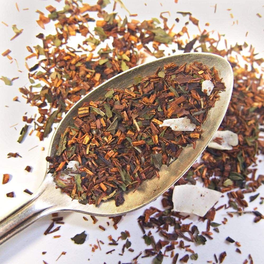 Plum Deluxe White Chocolate Peppermint Rooibos Sweet Cozy Relaxing Herbal Tea