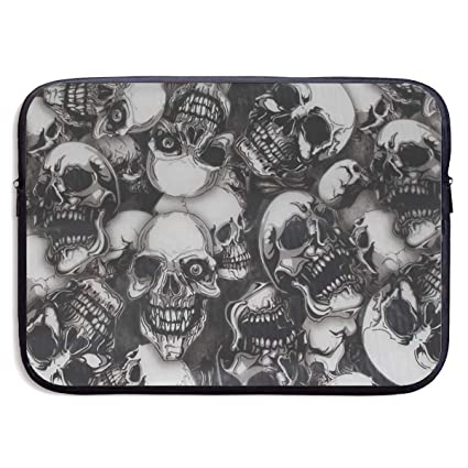 Reteone Laptop Sleeve Bag Colorful Skull Art Cover Computer Liner Package Protective Case Waterproof Computer Portable Bags