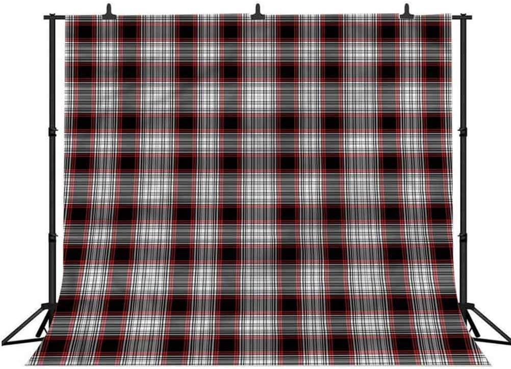 8x8FT Vinyl Photography Backdrop,Plaid,English Checkered Pattern Photo Background for Photo Booth Studio Props