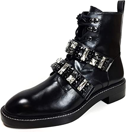 Zara Women Leather biker ankle boots