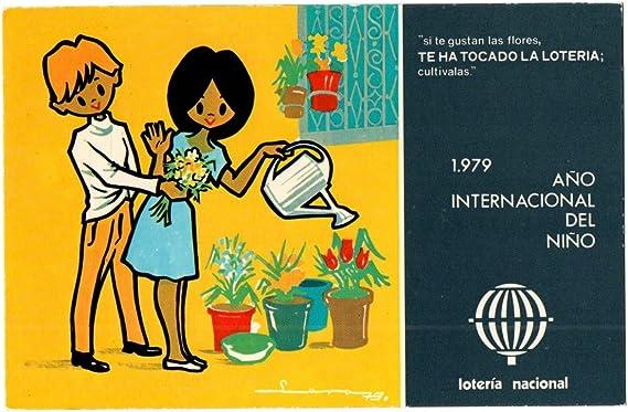 ANTIGUA TARJETA POSTAL POSTCARD LOTERÍA NACIONAL ESPAÑA AÑO INTERNACIONAL DEL NIÑO 1979 SERIE L Nº 8 DE E. LARA. SPANISH LOTERY. SPAIN. CARTE POSTALE POST CARD: Amazon.es: Oficina y papelería