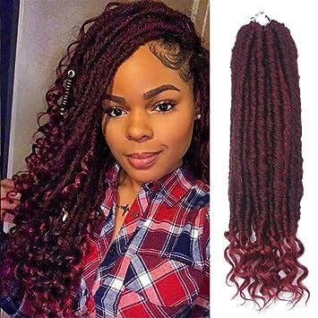 Amazon Com Dorsanee Goddess Locs Crochet Hair Curly Ends Straight