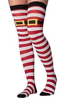 Socksmith Women/'s Knee High Socks Holiday Christmas Lights Red Xmas Footwear