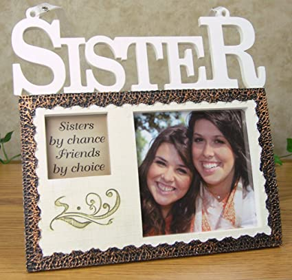 Amazon.com - Sisters Hanging Picture Frame Plaque - Sisters by ...