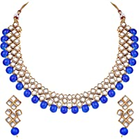 Aheli Stylish Bollywood Wedding Party Wear Necklace Earring Set Indian Ethnic Traditional Jewelry for Women