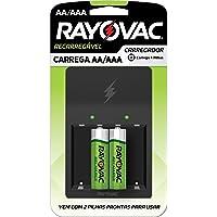 Rayovac PS132-2BR, Carregador de Pilhas Recarregáveis Rayovac (1 Unidade) P/ 4 Unidades de Pilhas Aa ou AAA + Pilha…