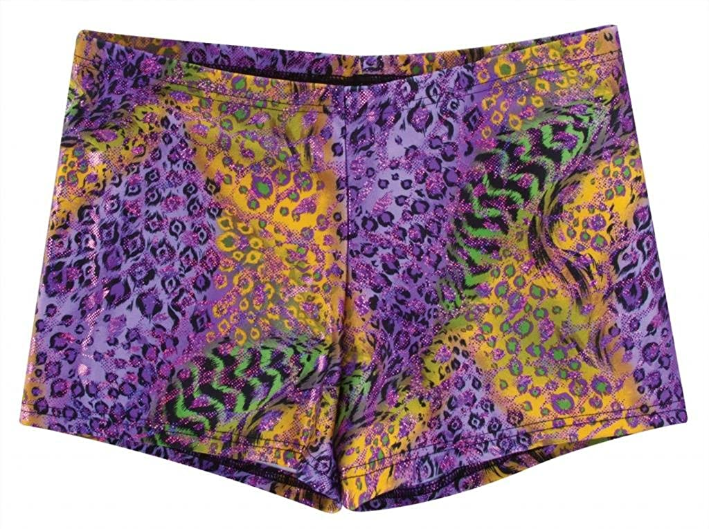 Adult X-Small, Animal Medley Body Wrappers 700 Print Hot Shorts