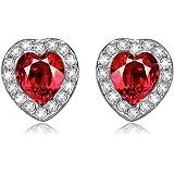 LADY COLOUR - Passion - Boucles d'oreilles Femme - cristaux de SWAROVSKI® - la collection CRISTAL COEUR