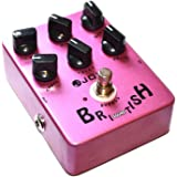 Joyo JF-16 British Sound Effects Pedal with Classic Brit-Rock Era Amp Simulator and Unique Voice Control