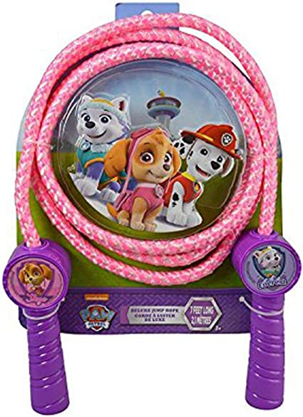 Paw Patrol Character Kids Skipping Rope Jump Fitness Exercise Handle Exercise