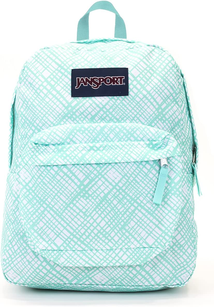 Jansport Superbreak Backpack Aqua Dash Jagged