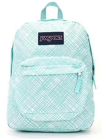 Jansport Superbreak Backpack Aqua Dash Jagged