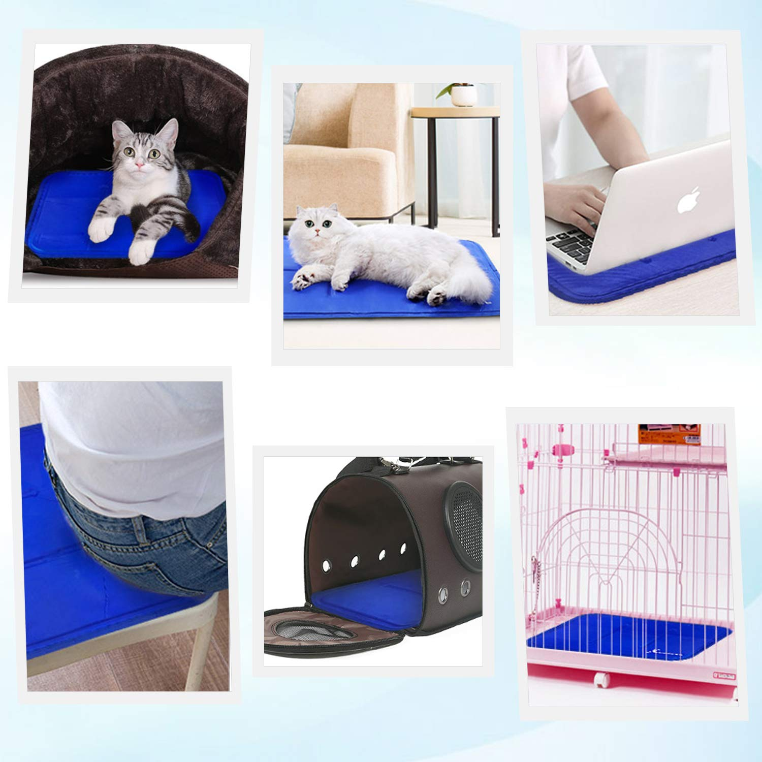 L Pressure-Activated Self Cooling Gel Mat for Kennels AlfaView Pet Cooling Pad for Dogs /& Cats Crates and Beds Ideal for Home /& Travel 35.4 * 19.7Inch