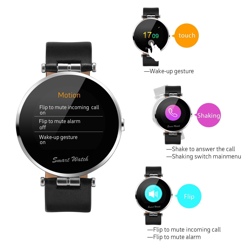 Fantime Smartwatch Relojes Inteligentes Bluetooth smartwatch Relojes de pulsera(Mensaje ,Cámara, Bluetooth, Sincronizar Llamada, Podómetro)  para Android y ...