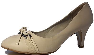 3-W-Hohenlimburg Stiletto Pumps High Heels Trachtenschuhe. mit Schnalle Schleife oder Schmuck. Rot Pink Beige...