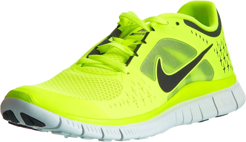 Jardines Becks Anterior  Nike Free Run+ 3 Mens Running Shoes (VLT/Reflct Slvr-Pr Pltnm-Anthrc) 6.5    Running - Amazon.com