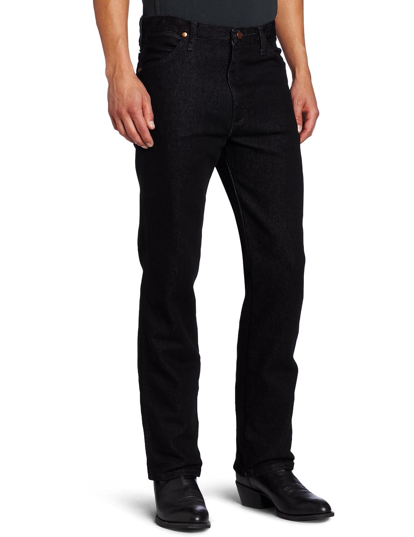 45aeb5a2 Wrangler Men's Cowboy Cut Slim Fit Jean at Amazon Men's Clothing store:  Wrangler Black Jeans Men