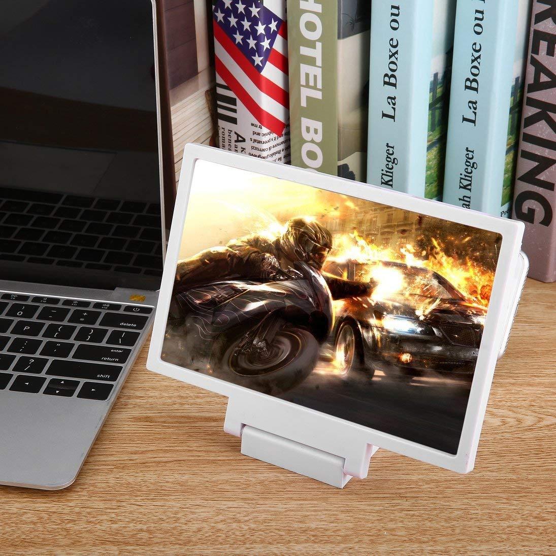 Il pi/ù Nuovo Staffa ingrandetta del Magnifier dellamplificatore del Telefono Cellulare dello Schermo 3D per Il Supporto di iPhone ToGames-IT