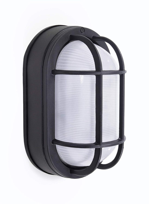 "CORAMDEO Outdoor 8.5"" Oval LED Nautical Bulkhead Light"