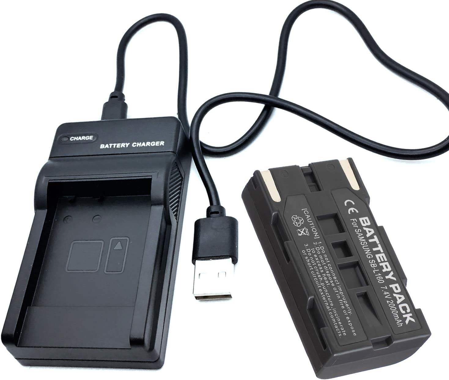VP-L906 VP-L907 Digital Video Camcorder Battery Pack and LCD USB Travel Charger for Samsung VP-L900