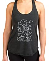 """Inner Fire """"The Best Things in Life Are Not Things"""" Yoga Racerback Tank Top"""