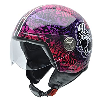 NZI 050278G773 Zeta Sweet Skeleton by Monster High Casco de Moto, Talla 58 (L