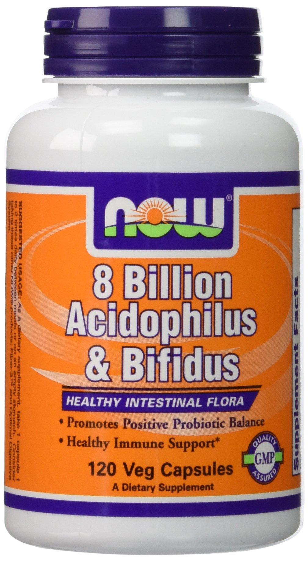 Now Foods, Acidophilus and Bifidus 8 Billion 240 Capsules