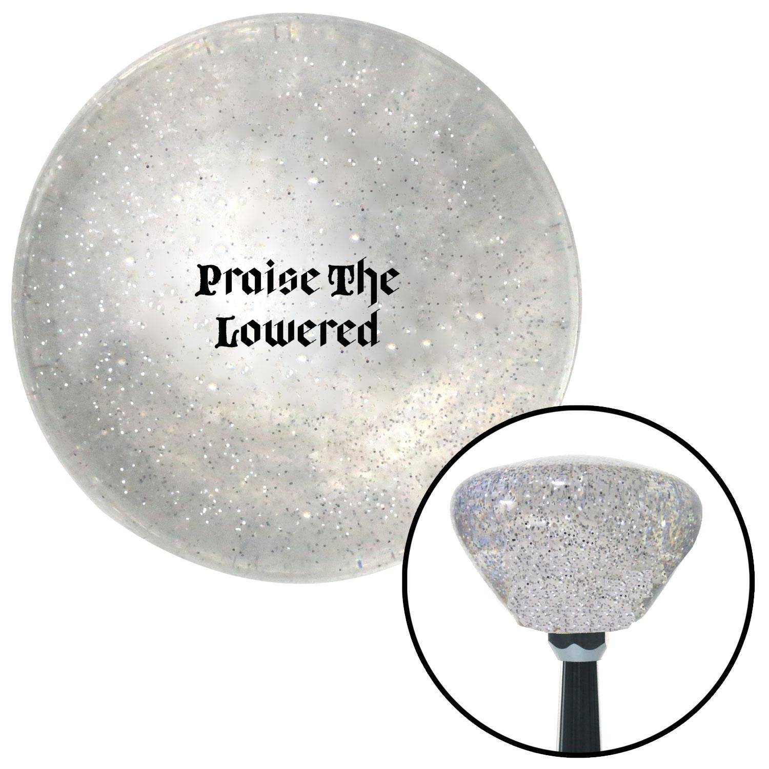 Black Praise The Lowered Clear Retro Metal Flake with M16 x 1.5 Insert American Shifter 286740 Shift Knob