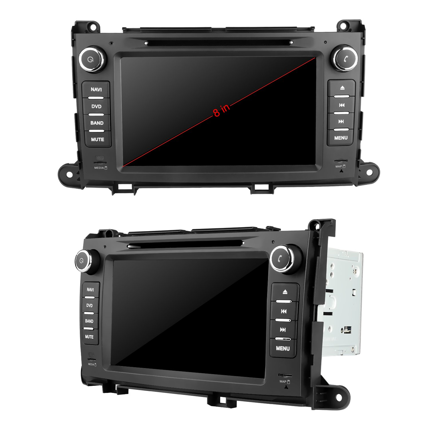 Amazon.com: Toyota Sienna 2011 2012 2013 2014 GPS Navigation Radio System, 8 Inch Touchscreen Car Stereo Bluetooth In-dash Navigation Supports MirrorLink ...