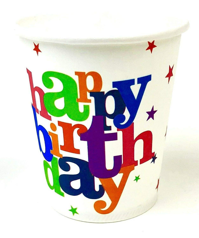 AEX 7oz Papel Feliz Cumpleaños Vajilla desechable para ...