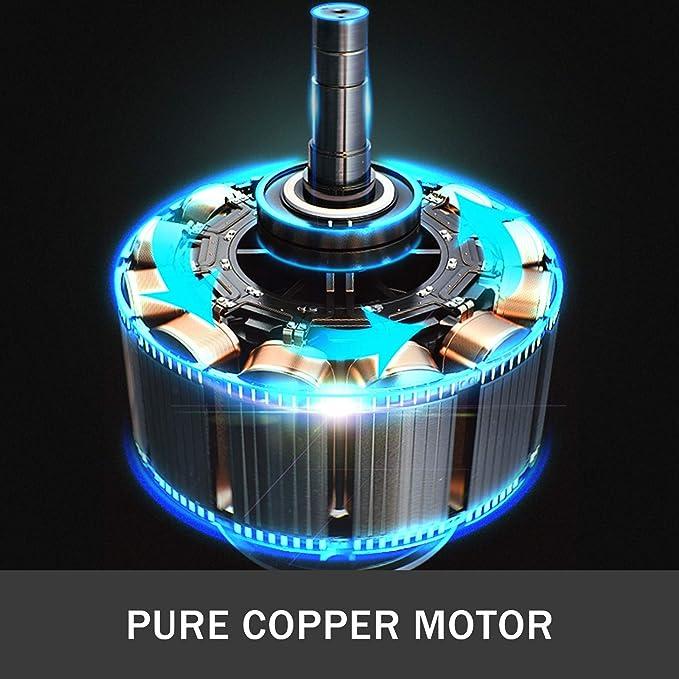 Rumorosit/à meno 48 dB Compressore Silenziato con Motore in Rame Puro Compressore dAria 550 W VEVOR Compressore dAria Senza Olio Ultra Silenzioso da 2 Galloni Compressore daria Portatile