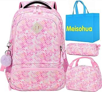 Mochilas Infantiles Mochila Sirena Mochila Escolar Niña Mochilas Escolares Juveniles para Chicas con Bolsa para Almuerzo y Estuche de Lápices: Amazon.es: Equipaje