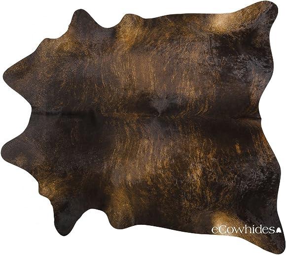 ecowhides Dark Brindle Brazilian Cowhide Area Rug