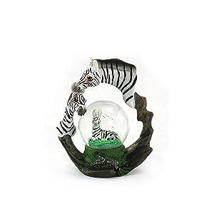 unison gifts YJF-556 4 INCH Zebra WATERGLOBE, Multicolor