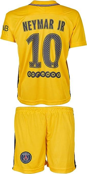 Equipación para niños Paris Saint Germain (2017/18) local y visitante #10 Neymar, con camiseta y pantalón, 164: Amazon.es: Deportes y aire libre