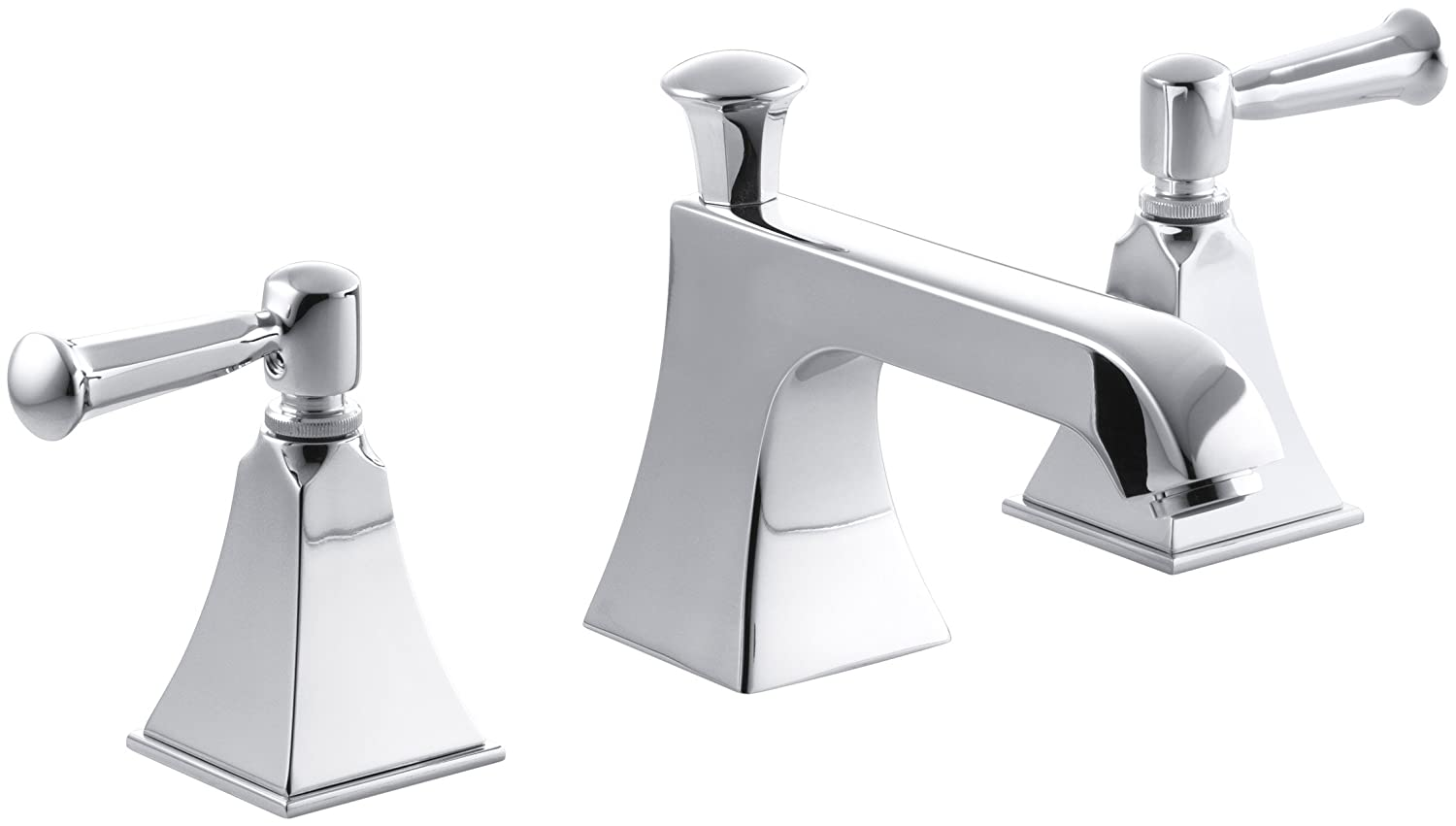 KOHLER K-454-4S-CP Memoirs Widespread Lavatory Faucet with Stately ...
