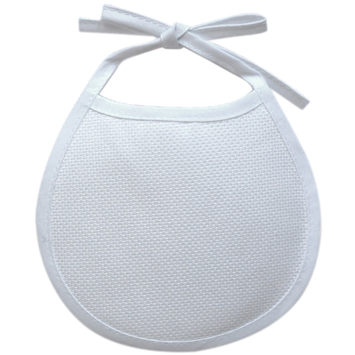 DMC BB3650-6750 Cotton/Polyester 5-1/2-Inch Baby Soft Infant Bib with Trim, White Notions - In Network