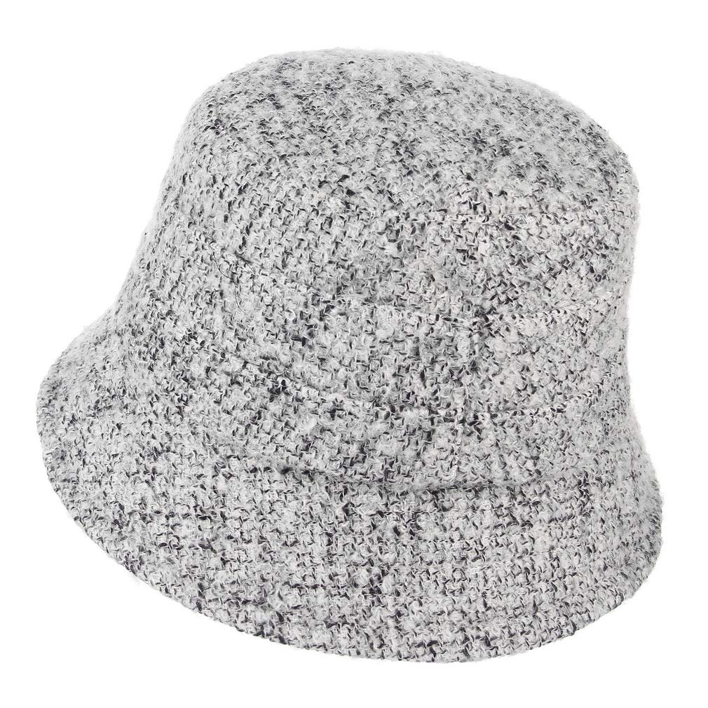 Women Vintage Cloche Bucket Fedora Hat Ladies Church Derby Party Fashion Fisherman Winter Hat